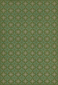 Distressed Green, Blue, Cream - Downtown Diner Classic Vintage Vinyl Pattern 81 Contemporary / Modern Area Rugs