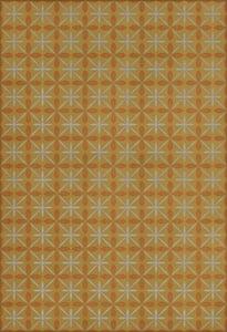 Yellow, Orange, Cream - Earlybird Special Classic Vintage Vinyl Pattern 81 Contemporary / Modern Area Rugs