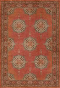 Distressed Red - Amesha Persian Bazaar Vintage Vinyl Tabriz Bohemian Area Rugs