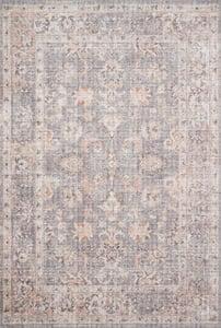 Grey, Apricot Skye Printed SKY-01 Traditional / Oriental Area Rugs