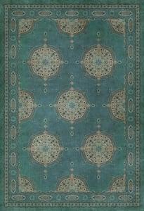 Distressed Blue - Govad Persian Bazaar Vintage Vinyl Tabriz Bohemian Area Rugs