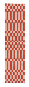 Orange Bandas Individual B Contemporary / Modern Area Rugs