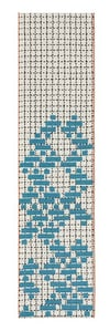 Turquoise  Bandas Individual C Contemporary / Modern Area Rugs