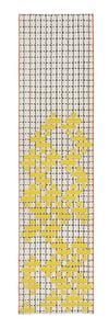 Yellow Bandas Individual C Contemporary / Modern Area Rugs
