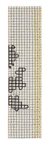 White Bandas Individual D Contemporary / Modern Area Rugs
