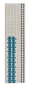 White Bandas Individual E Contemporary / Modern Area Rugs