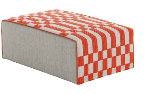 Orange Bandas Pouf B Contemporary / Modern Poufs