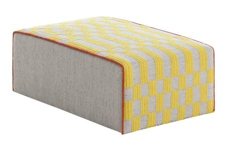 Yellow Bandas Pouf B Contemporary / Modern Poufs