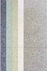 Grey, Blue, Light Green (Naiad) Nuances Line Contemporary / Modern Area Rugs