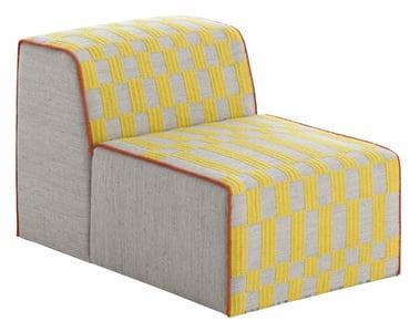 Yellow Bandas Space B Contemporary / Modern Poufs