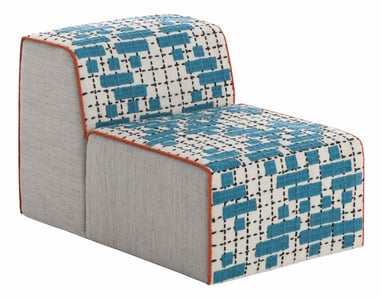 Turquoise Bandas Space C Contemporary / Modern Poufs