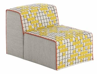 Yellow Bandas Space C Contemporary / Modern Poufs