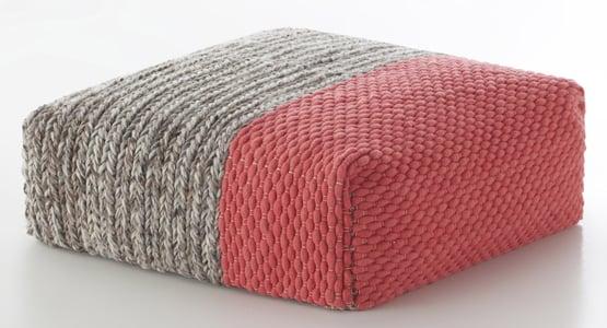 Coral Mangas Pouf Plait Contemporary / Modern Poufs