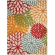 Product Image of Floral / Botanical Green, Red, Orange Area Rug