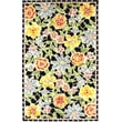 Product Image of Floral / Botanical Black, Yellow (B) Area Rug