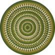 Product Image of Geometric Green - Forever Outward Area-Rugs