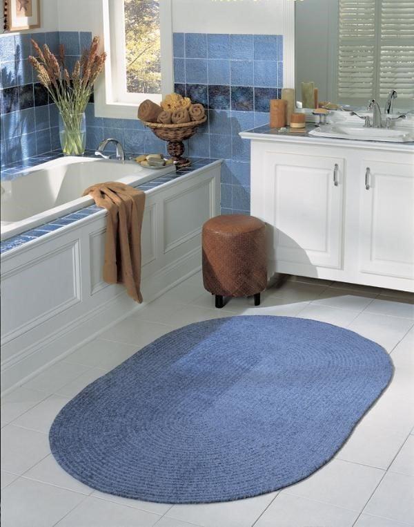 Cool Blue Bathroom Rug Ideas