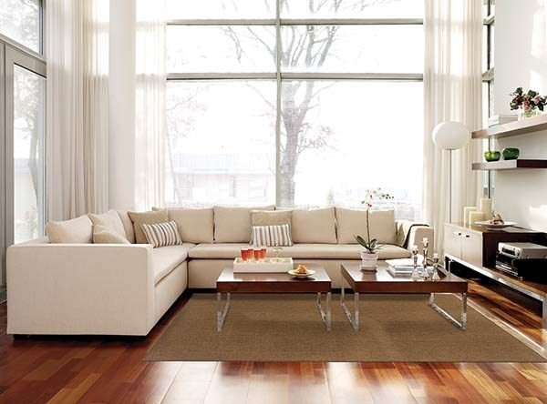 L-Shaped Couch in the Living Room