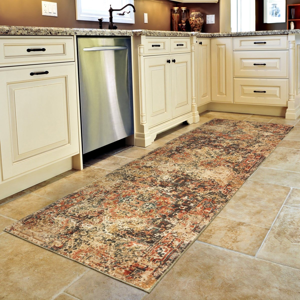 Why modern fibers and construction are great for your kitchen rugs