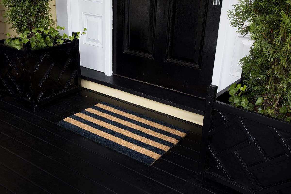 Striped Charm Entryway Rug Ideas
