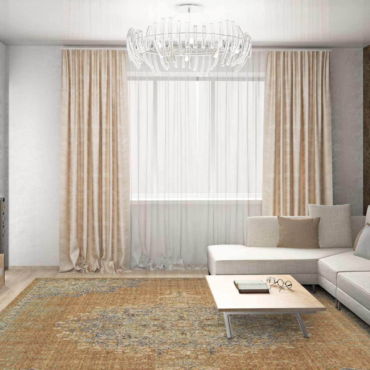 Puddling Curtains - Formal Living Room Decorating Tips