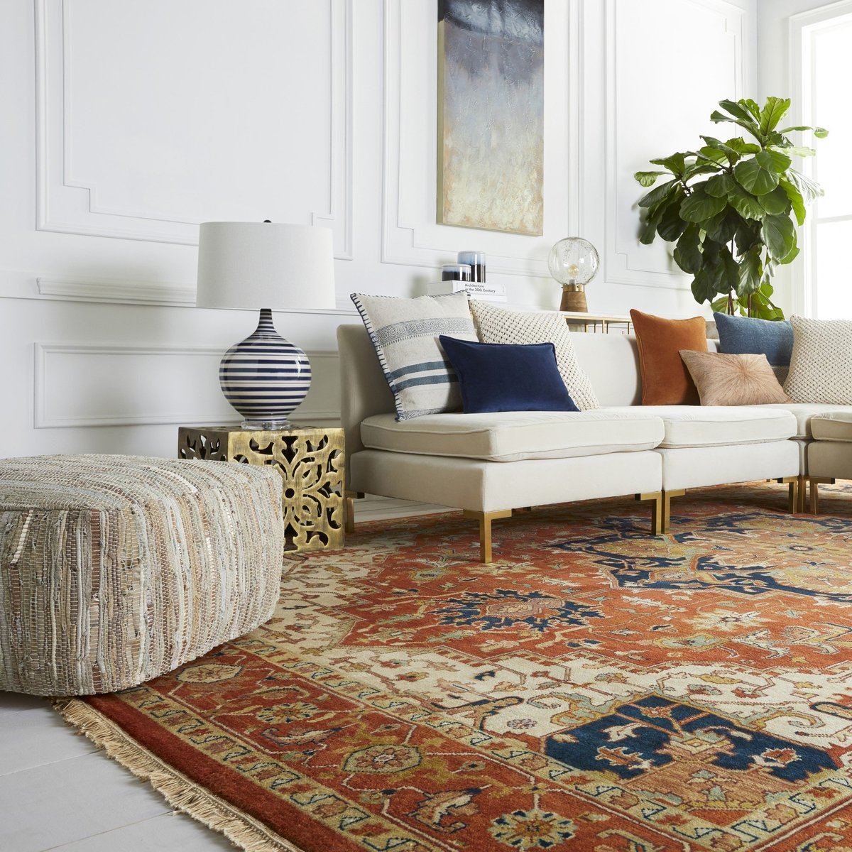 Adding traditional style with living room rugs