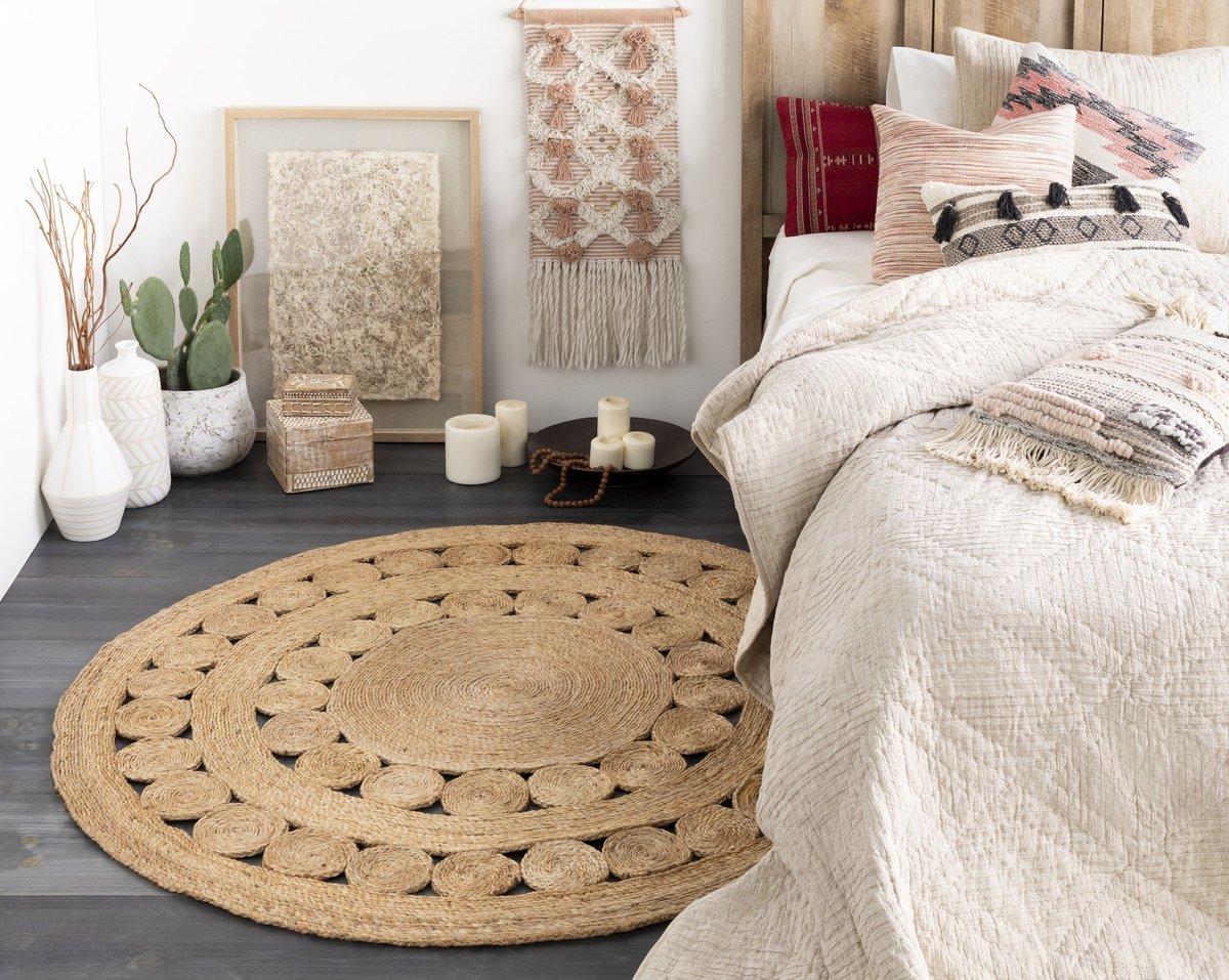 Round Bedroom Rug