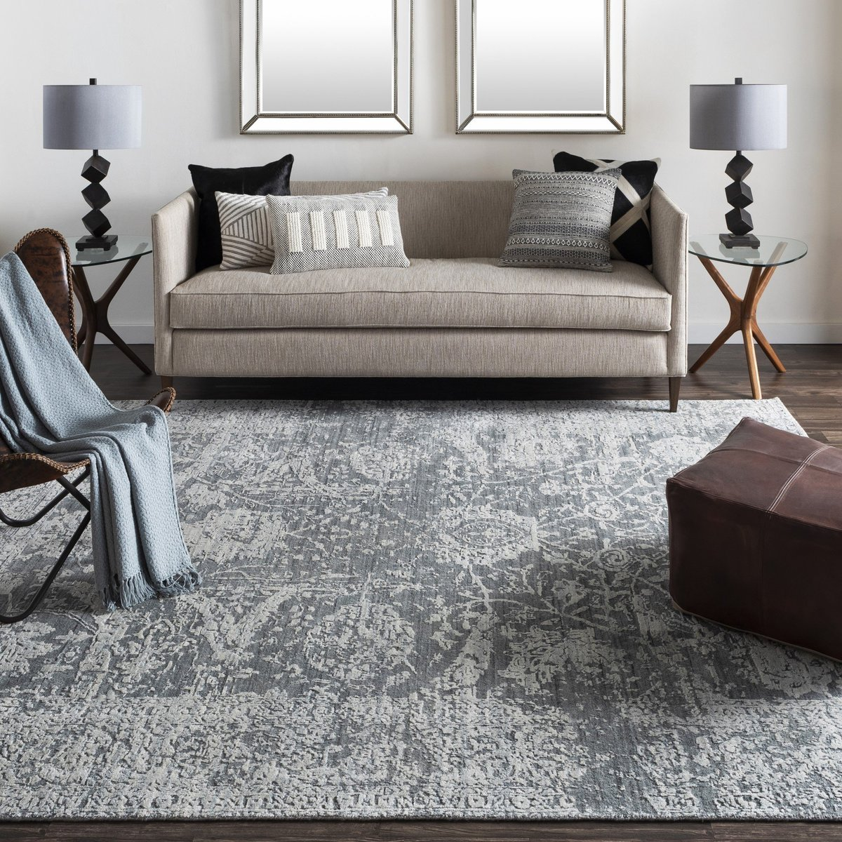 Adding traditional style with living room decor