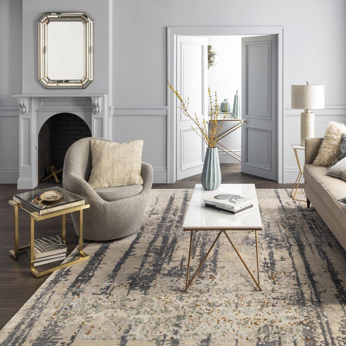 Contemporary living room rug ideas