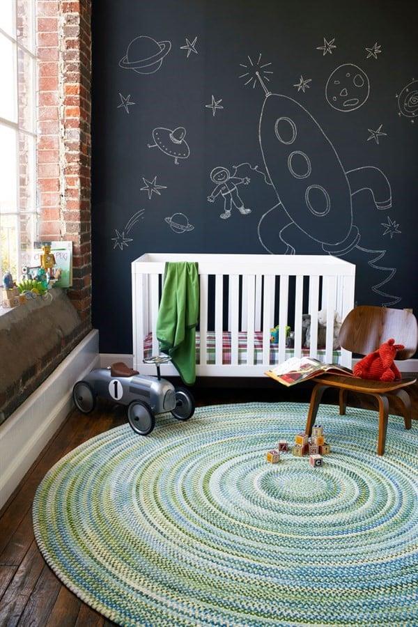 Round Braided Nursery Rug