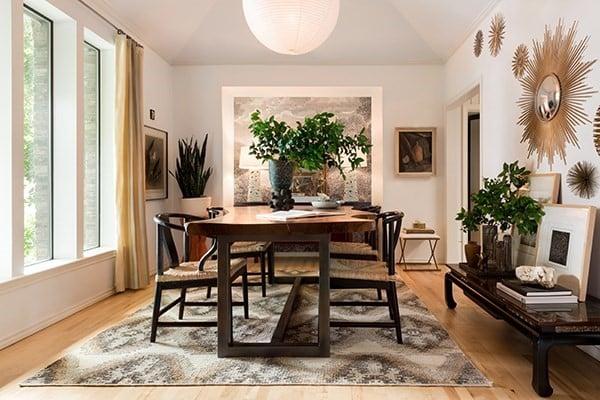 Modern Southwestern Dining Room Rug Ideas