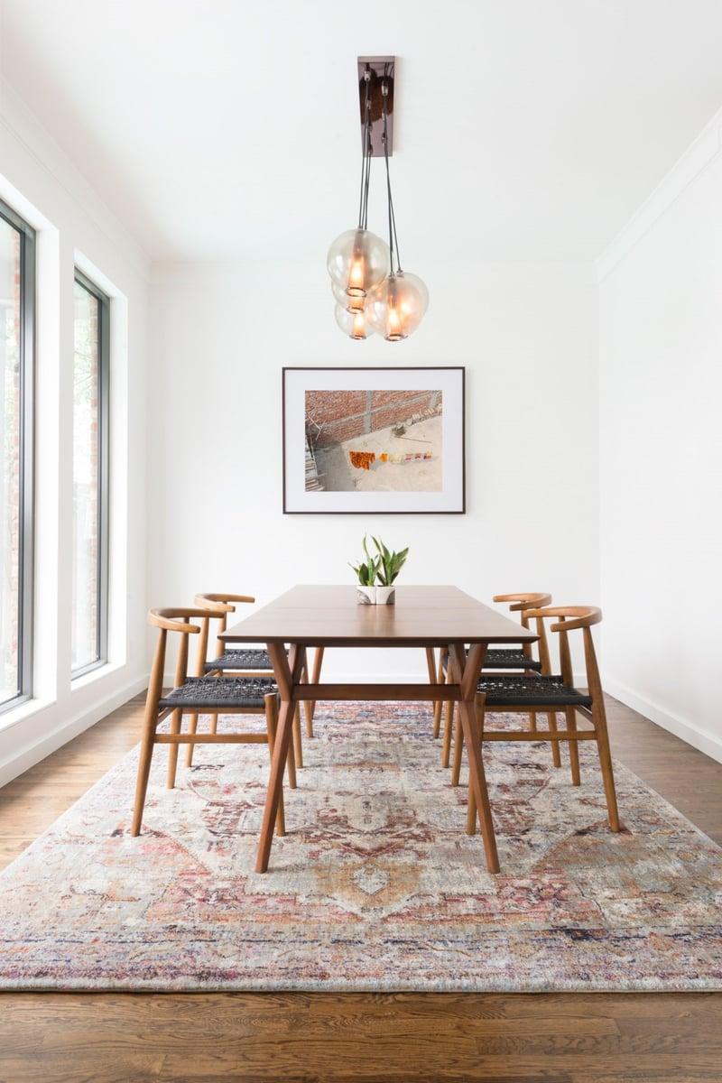 Mid-Century Modern Dining Room Rug Ideas