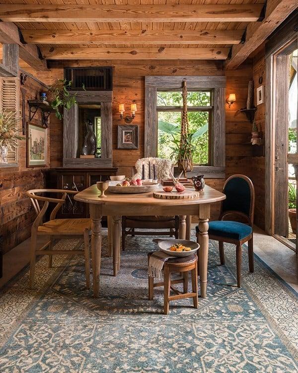 Cabin Dining Room Rug Ideas