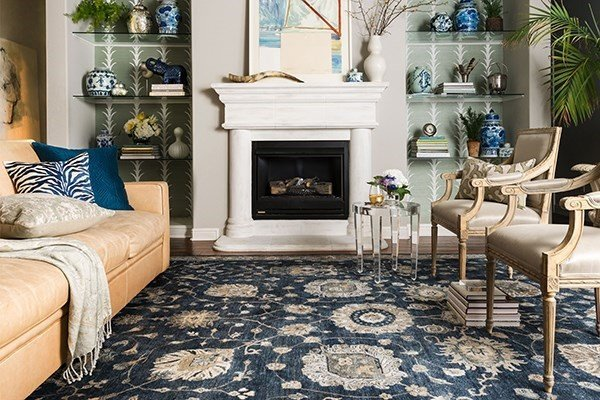 Add a touch of Persia with a Persian-styled living room rug