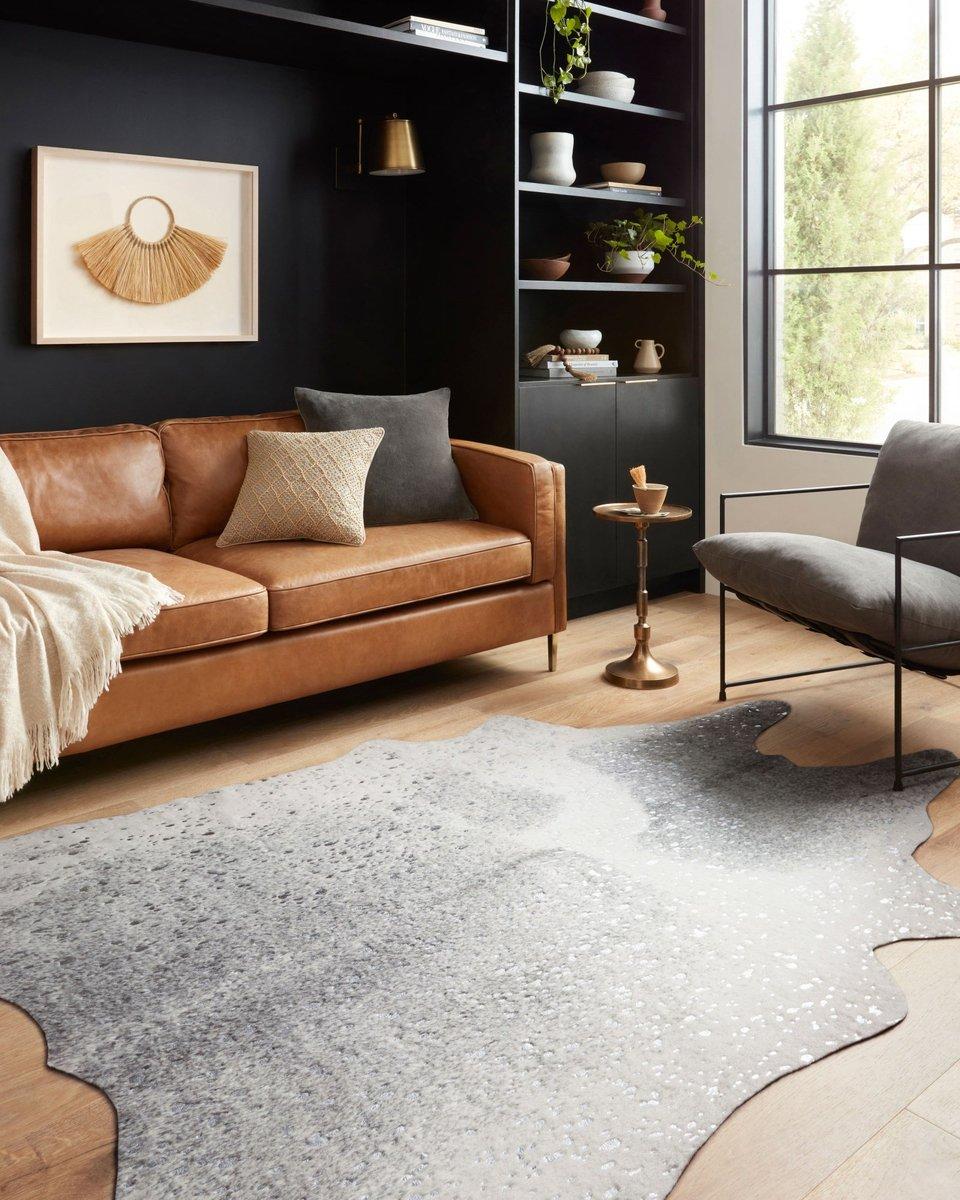 Moody Contrast Grey Living Room Decor