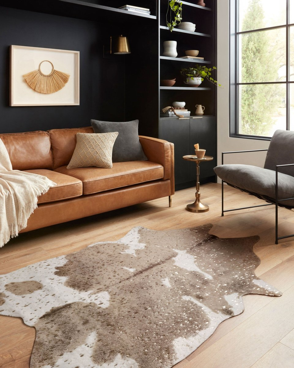 Get fluffy and luxurious with a faur fur living room rug