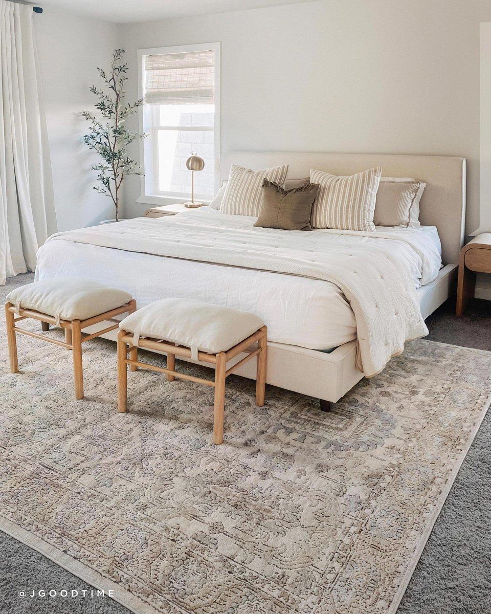 Neutral on Neutral Bedroom Decor Ideas