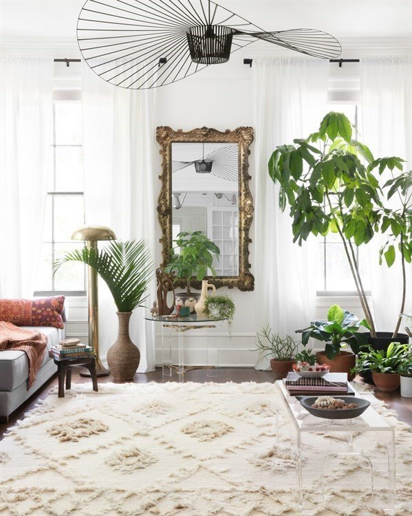 All Textures and Plants - Boho Living Room Decor Ideas