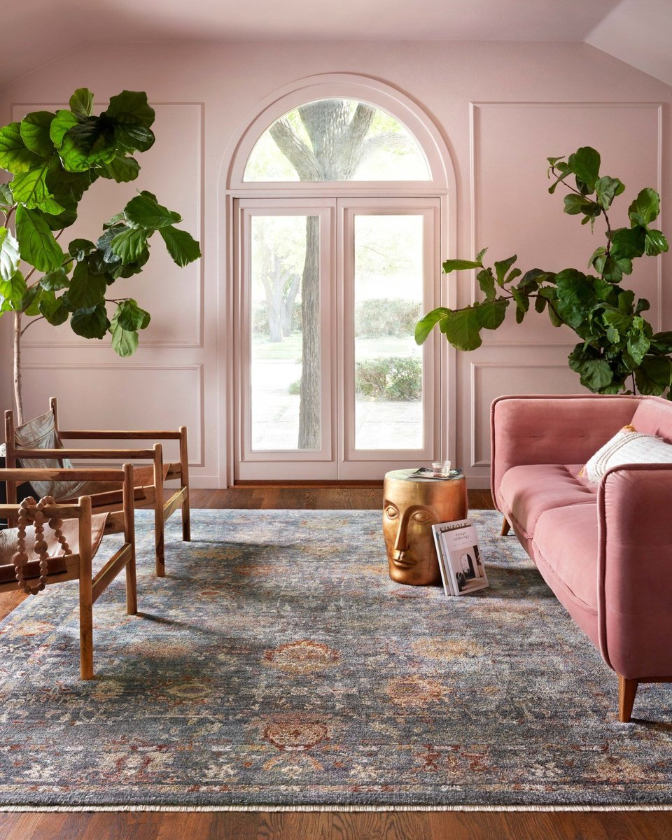 Pinks accents in the living room