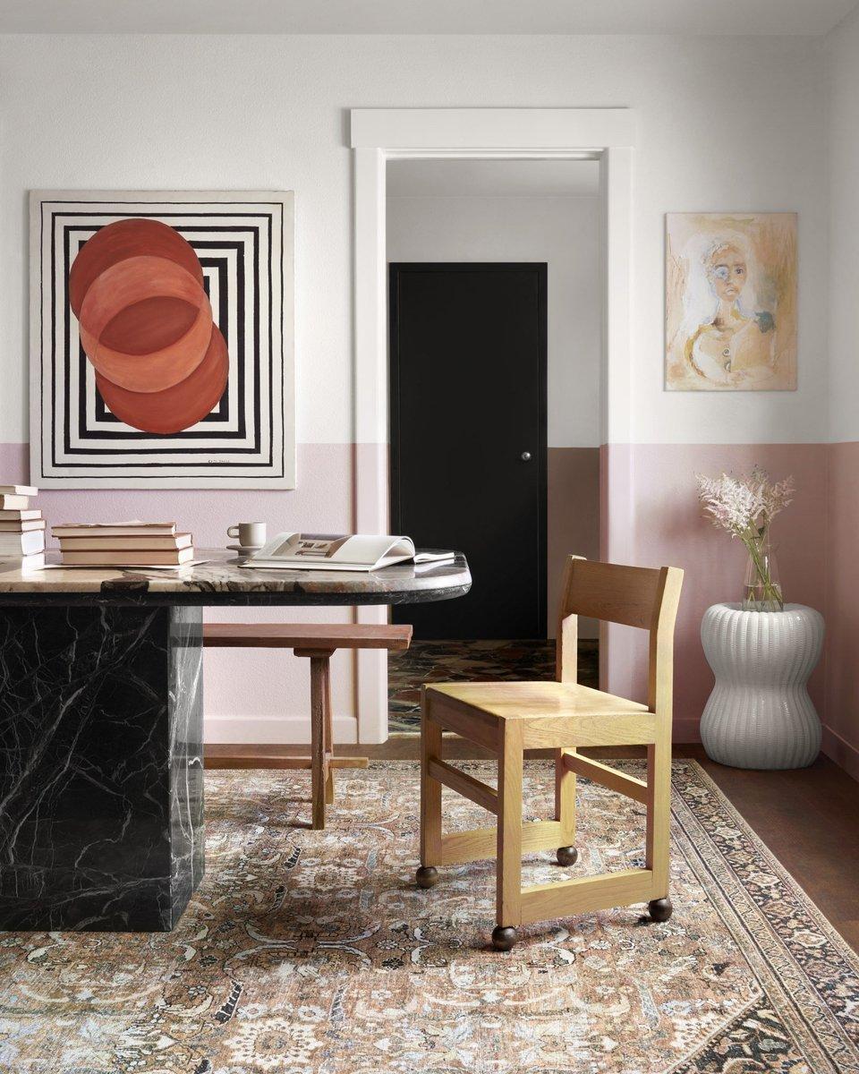 Vintage Modern Dining Room Rug Ideas