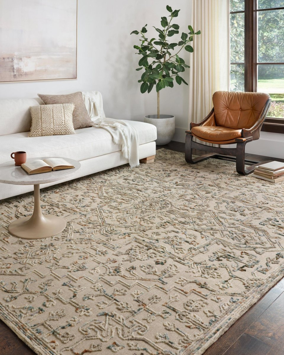 Add whimsy to your living room with a whimsical rug