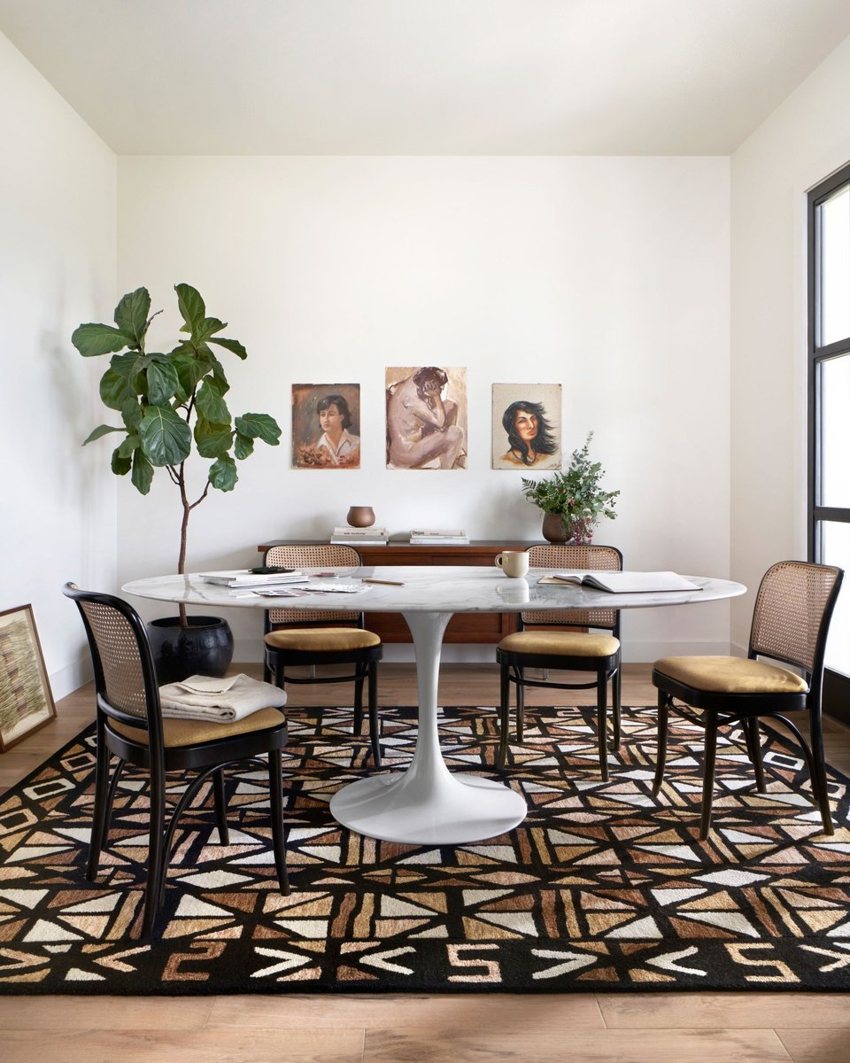 Geometric Dining Room Rug Ideas