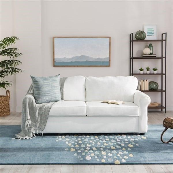 Harmonious Hues - Large Living Room Decorating Tips