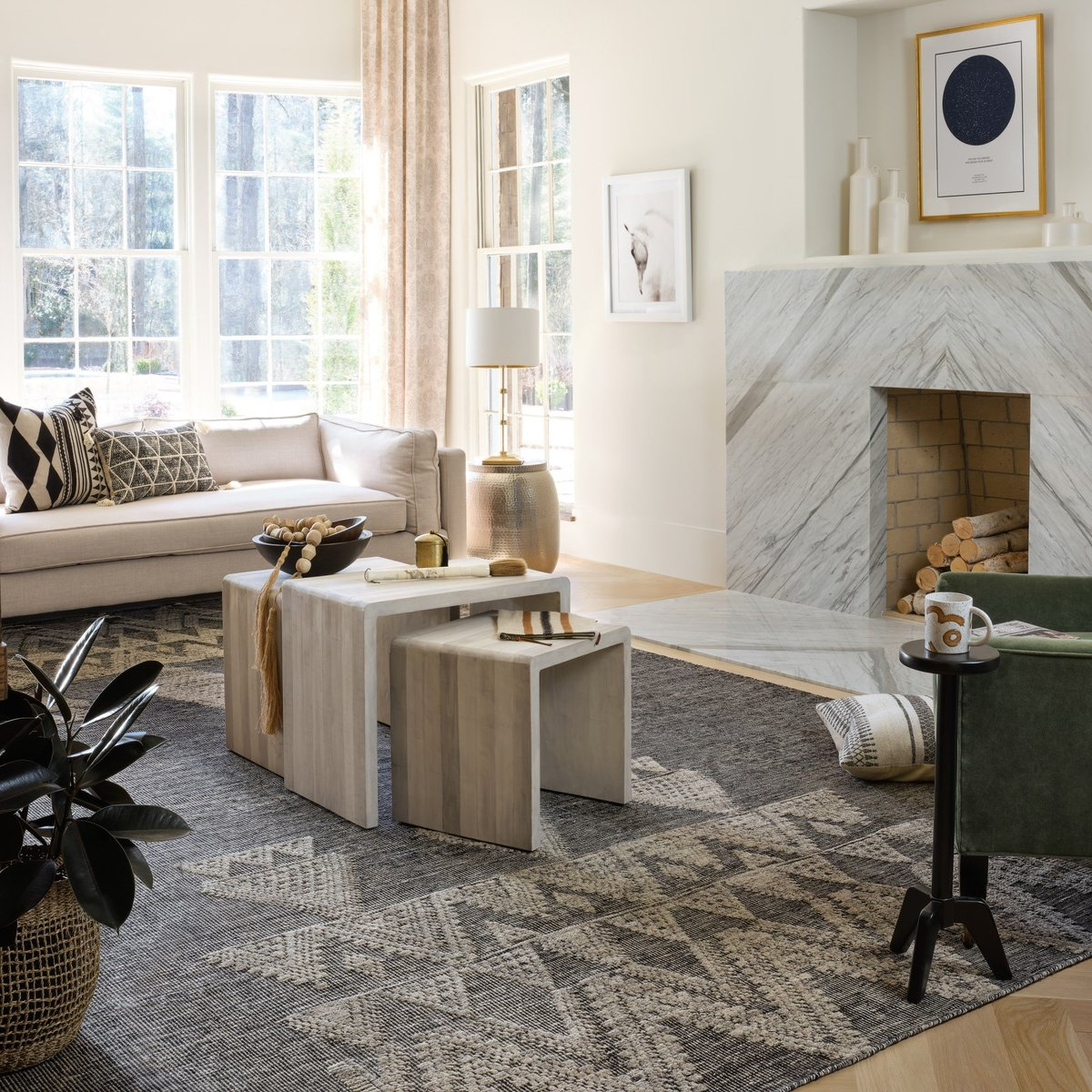 Marvelous Marble - Formal Living Room Decorating Ideas