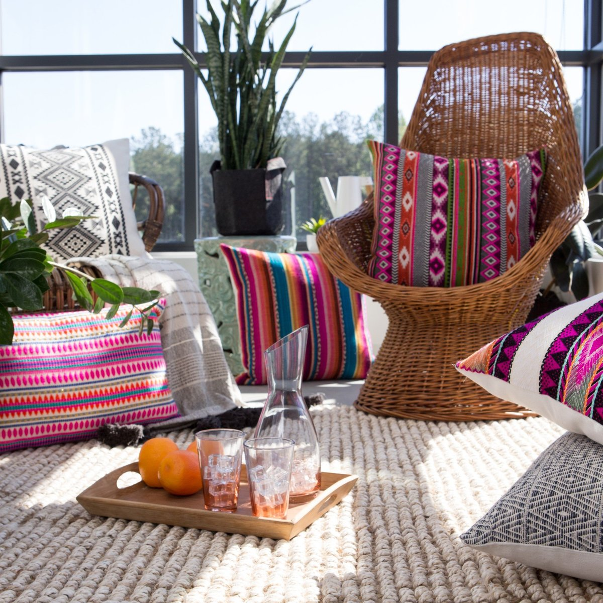 Colorful Accents Outdoor Rug Ideas