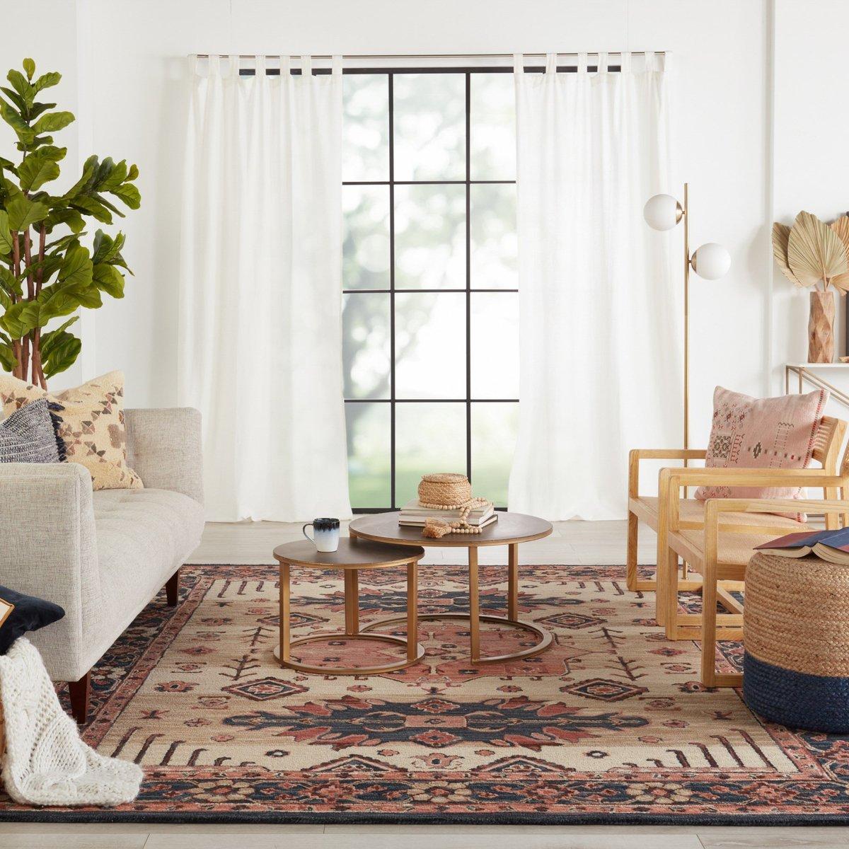 Light and Bright Boho Living Room Decor Ideas