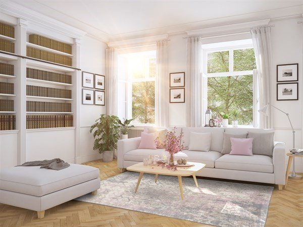 Calm, Cool, And Collections  - Formal Living Room Decorating Tips