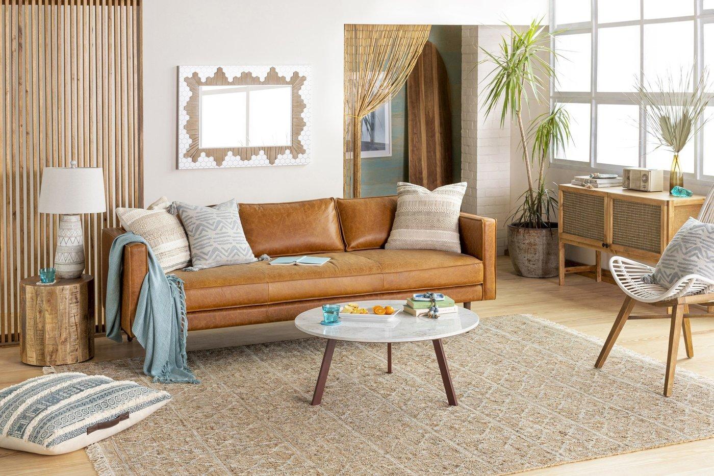Organic Coastal Living Room Decor Ideas