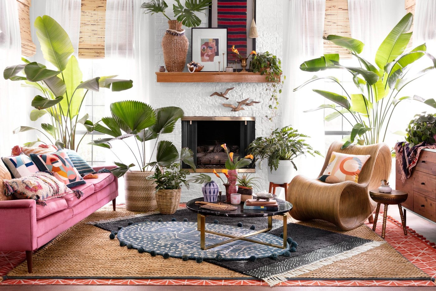 More is More - Boho Living Room Ideas