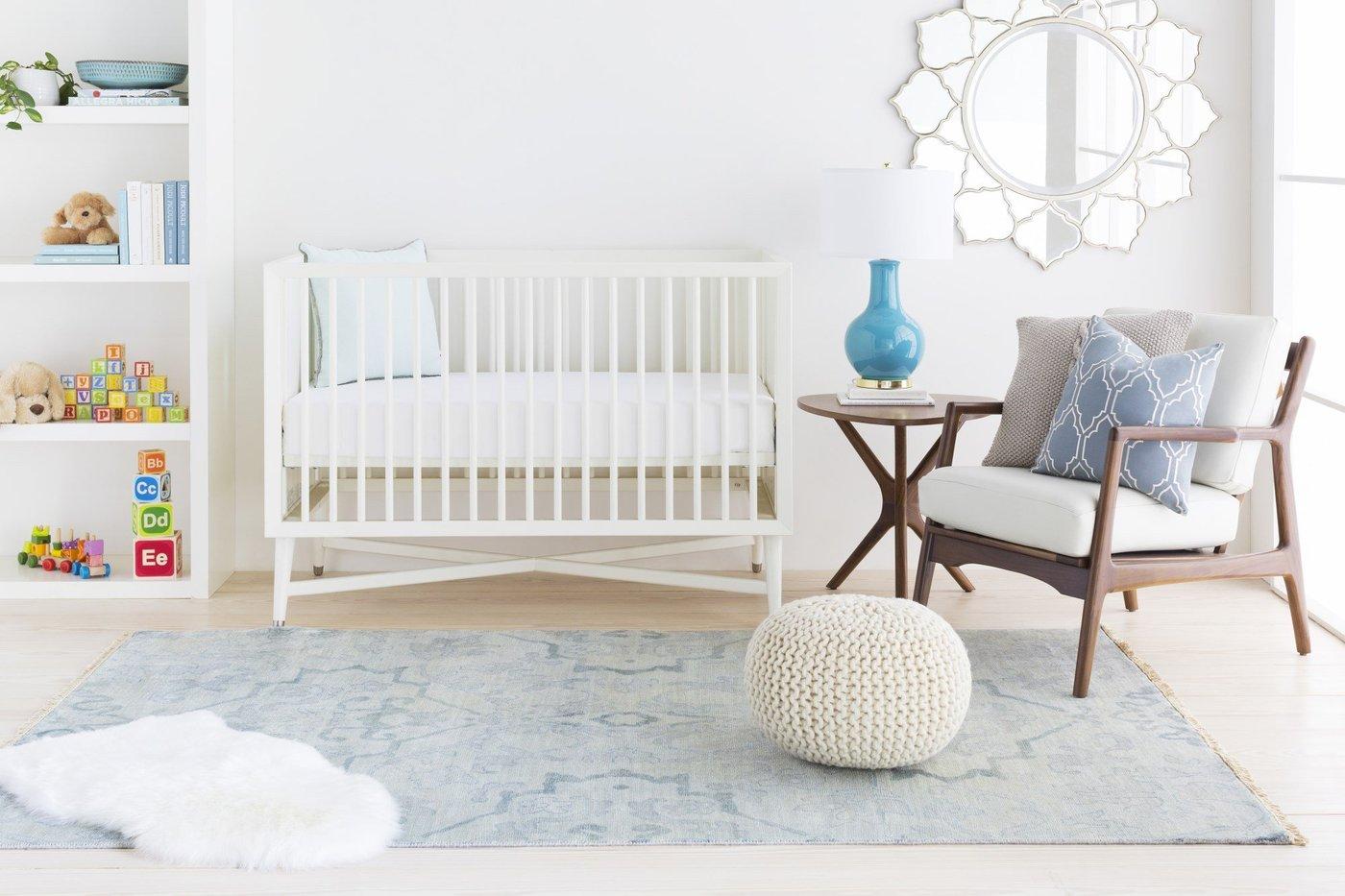 Soothing Blue Nursery Rug Ideas